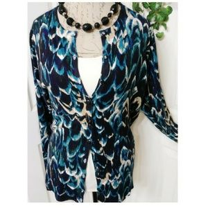 Avenue Button Front Cardigan Sweater Size 14